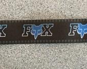 Fox 3/8 inch grosgrain ribbon per meter