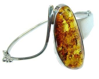 Amber Sterling Silver Bracelet - weight 15.50g - dim 1 5 8 inch - code 29-lip-16-1
