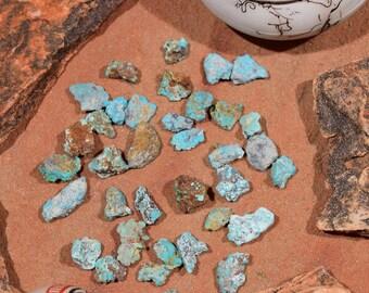 Villa Grove Colorado Turquoise Nuggets Seafoam 250 cts Lot VG3 Natural RARE
