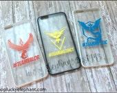 Pokemon GO Cell Phone Case - Team Mystic Phone Case - Team Instinct Phone Case - Team Valor Phone Case - Pokemon Phone Case