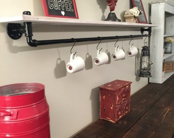 Industrial Shelf Industrial Black Pipe Shelving Restoration Hardware