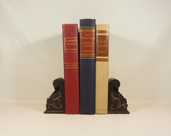Mid-Century Books - Photo Prop - Office Decor - Good Reading - 1940s