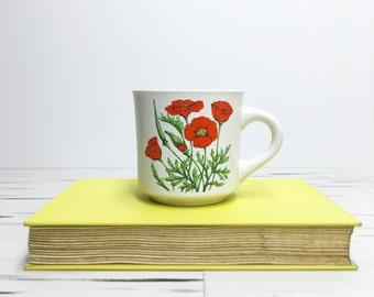 Vintage Poppy Mug | Themes Mug