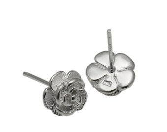 Women Stud Earrings 925 Sterling Silver Flower Jewelry Bridesmaid Gifts Tiny Post Earrings ID 34800