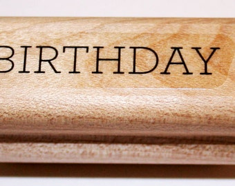 BIRTHDAY Rubber Stamp from Stampin Up