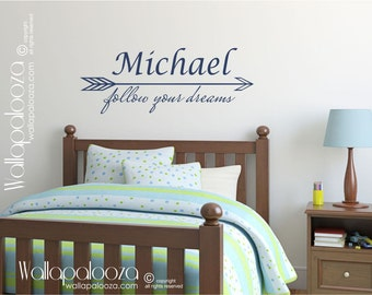 Kid's Wall Art - Nursery Wall Decal - Children's Name Wall Decal - Kid's Wall Decor - Arrow Wall Decal - Wall Decal - Wall Decor