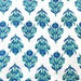 Floral Screen Print Indian Cotton Fabric Sold by Yard