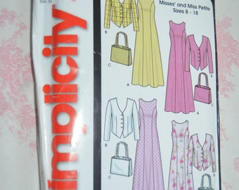 Simplicity 5637 Misses Petite Dress Jacket and Purse Sewing Pattern - UNCUT - Sizes 8 - 18