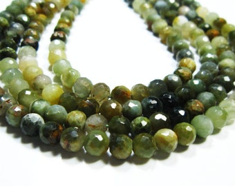 """AA-Cats Eye Faceted Disco Round Bolls-13"""" Strand-Stone measures -5mm"""
