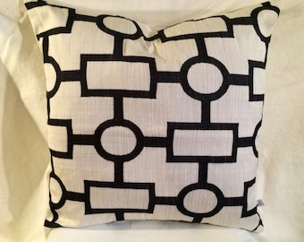 Pair of Custom Pillow Covers-You Choose Size and Color-Keyhole Design-Accent Pillow Cover-Free Shipping.