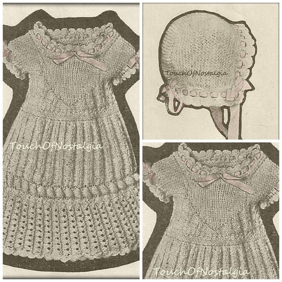 HEIRLOOM Baby DRESS Antique Knitting Pattern Beautiful LACY