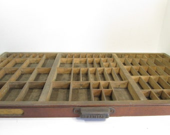 Hamilton Letterpress Drawer / Wooden Printers Typeset Drawer / Shadowbox / Industrial Decor