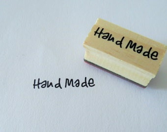Rubber Stamp Handmade - Handlettered Wooden Stamp - 1 pc