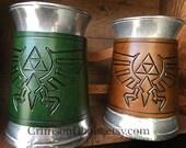 Legend of Zelda Triforce Mug - by Crimson Chain leatherworks - SCA Larp Renactment Garb Costume Geek PopCulture