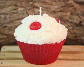 B1G1 Free!!  Jumbo Cupcake Candles, Jumbo Cherry Cupcake Candle, Fake Food