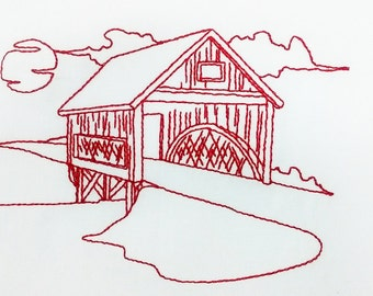 Redwork Covered Bridges Collection