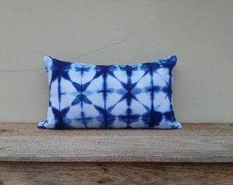 """Indigo pillow cover, pillow cover,tie dye pillow cover 12""""×20"""""""
