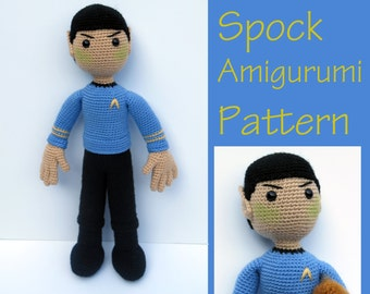 Crochet Pattern: Spock Star Trek Amigurumi Pattern PDF Instant Download