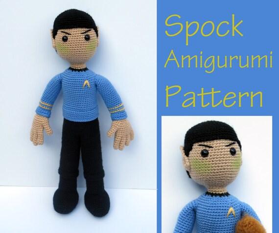Amigurumi Star Trek : Crochet Pattern: Spock Star Trek Amigurumi Pattern PDF Instant