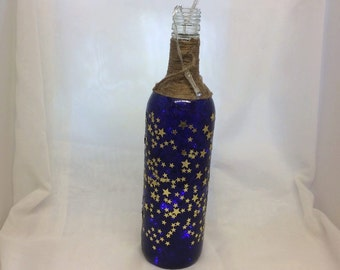 Decorated Bottle with Lights