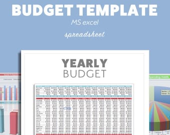 Excel BUDGET Planner Template MS Microsoft Debt Budget Spreadsheet Organizer Template Savings Financial Tracking Editable Fillable Expenses