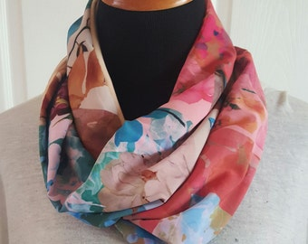 Milticolor floral infinity scarf  Free Shipping