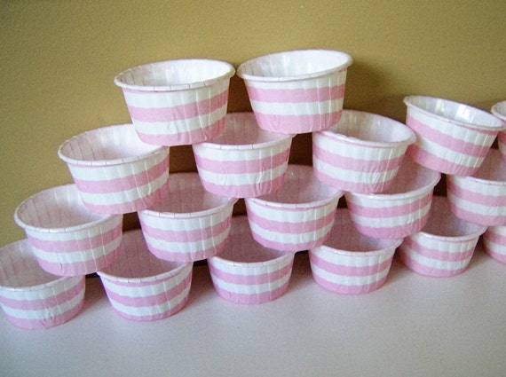 Mini Paper Candy Cup : Clearance mini candy bake cups oz striped