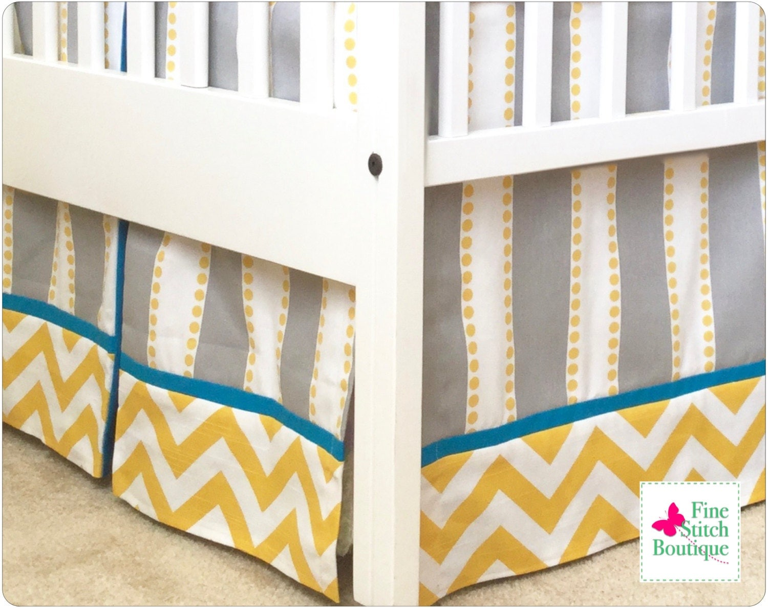 Baby bed in nigeria - 17 Saffron Lulu Stripe Baby Boy Pleated Crib Skirt Yellow And Gray Crib Skirt Chevron Crib Skirt Stripe Crib Skirt