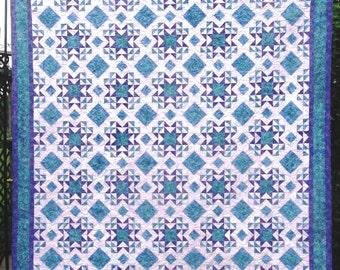 SALE, Buy 2, Get 1 Free -- SUMMER BREEZE, pdf quilt pattern,  3 sizes