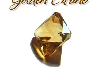Gemstone Golden Citrine 2.95CT Square Cut Pristine Loose Gem Stone - Free Ship
