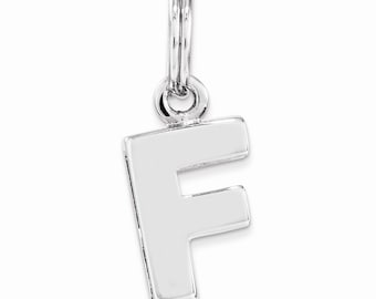 Sterling Silver F Charm
