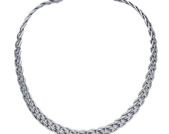 Silver Woven Necklace sterling silver