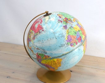 Vintage School Globe, School House, World Globe, Replogle