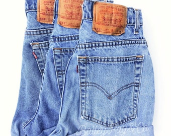 Levis High Waisted Denim Shorts - hippie  - Sizes US 0 - 20 Womens