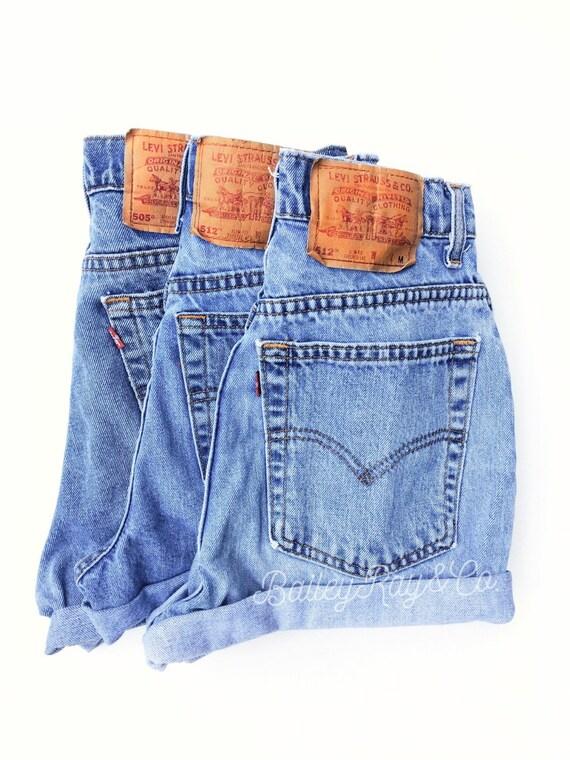 levis high waisted denim shorts hippie sizes us 0 20. Black Bedroom Furniture Sets. Home Design Ideas