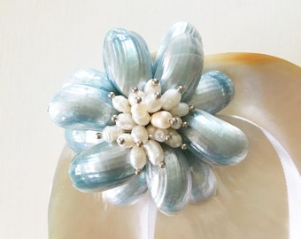 Mermaid Ring Bearer-Beach Wedding Ring Bearer-Sea Shell Ring Bearer- Beach Wedding Ring Pillow