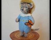 Tom Kitten, Bratrix Potter character, Needle felted Tom Kitten, Beatrix Potter figurine,needle felted cat, soft sculpture, fiber art