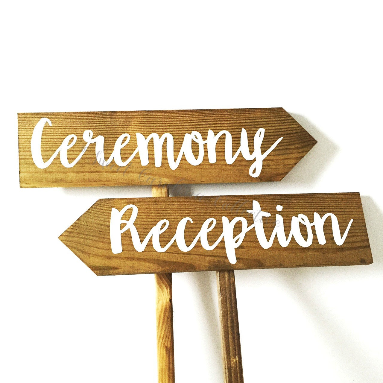 Ceremony And Reception Wooden Wedding Signs WS-207