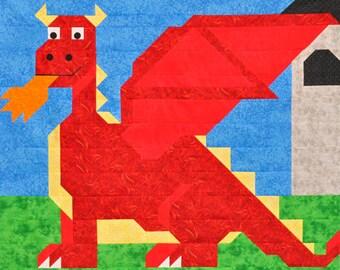 Dragon Crib Quilt, Fantasy Crib Quilt, Dragon Toddler Quilt, Dragon Twin Quilt,