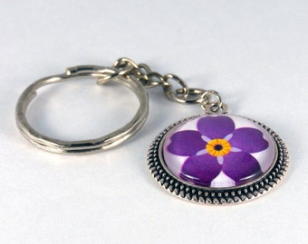 Forget me not keychain, anmoruk key chain, forget me not, anmoruk, armenian, armenian genocide, armenian flower, armenian keychain, armenia