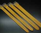 Leather zulu band/strap From Atelier Du Cuir -100% handmade (hand cut, hand stitched and hand finished) - mustard -