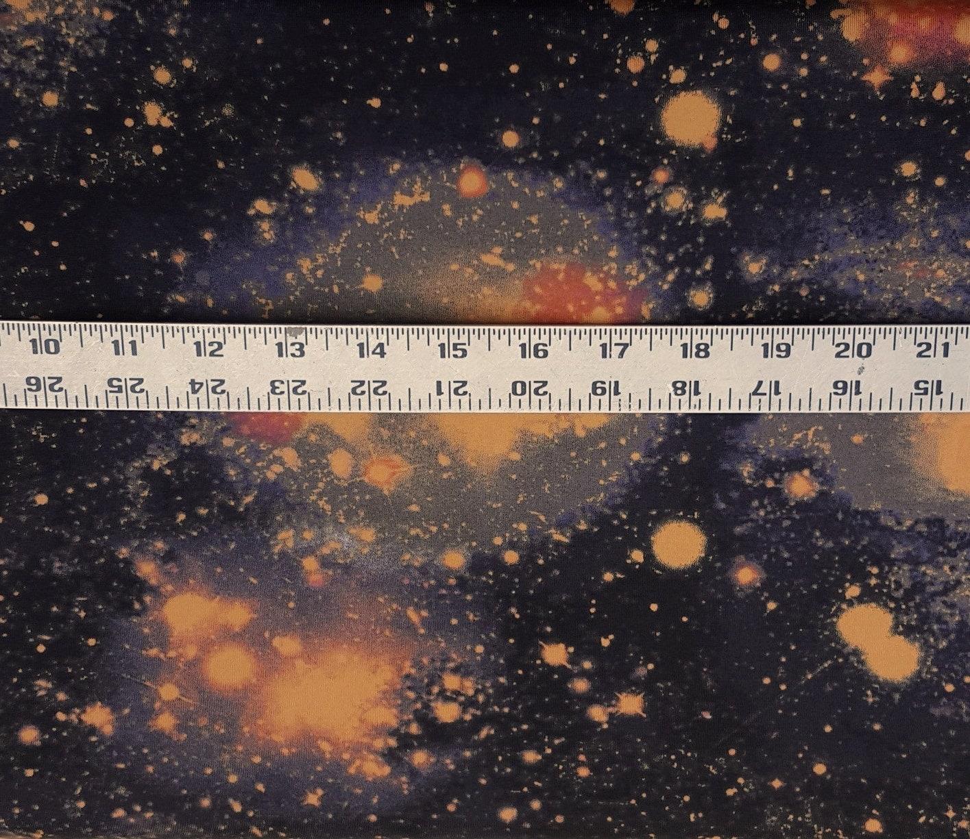 Galaxy print 2 fabric by the yard poly spandex stretchy for Galaxy fabric canada