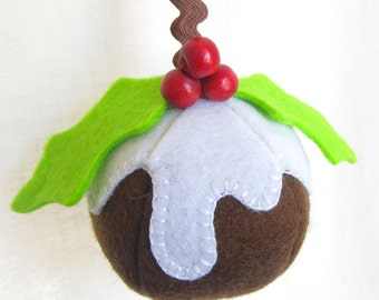 Felt Christmas Pudding Ornament - PDF Sewing Pattern