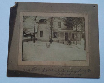 Antique Photo Cabinet Card of Winston Home