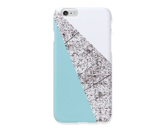 iPhone 6s+ case - Baby Blue and White and Pencil pattern - iPhone 5 case, iPhone 7 Plus case, iPhone SE, non-glossy M21
