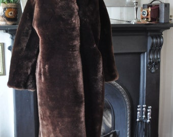 Sale reduced from 75 pounds - Vintage 1940's Lined Fur Coat – Sheared Beaver Real Fur Made in London, England