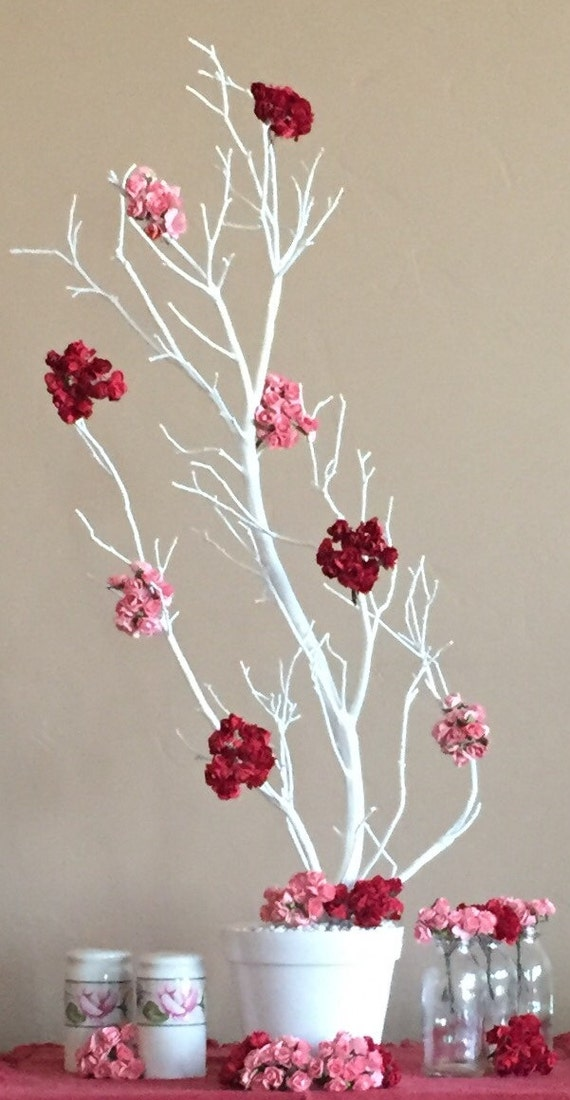 Manzanita tree branch party centerpiece white
