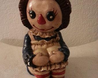 Pottery Raggedy Ann Figurine