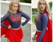 CBS inspired Supergirl top/shirt