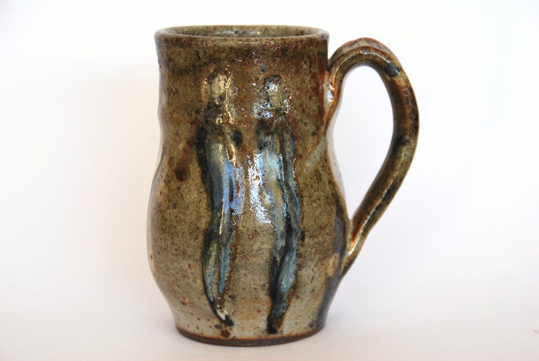 Coffee Mug Handmade Stoneware Pottery Mug Rustic Ceramic Mug